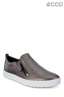 ECCO® Black Side Zip Slip On Shoe