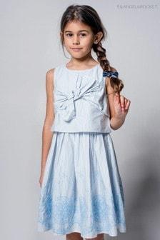 Синее платье с кружевом ришелье Angel & Rocket