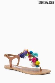 Steve Madden Multicolour Pom Pom Circus Sandal