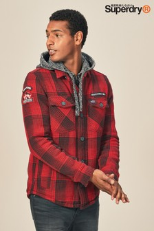Superdry Red Everest Storm Hooded Shirt
