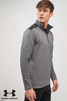 Under Armour Golf Grey/Black Playoff Half Zip Top