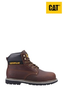 CAT Brown Powerplant S3 GYW Safety Boots