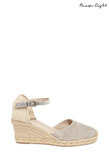 Phase Eight Grey Veronica Wedge Shoe