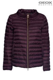 Geox Jaysen Raisin Purple Down Jackets