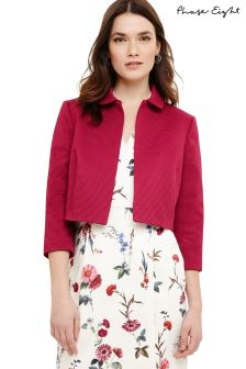 Phase Eight Magenta Kimarra Collar Jacket