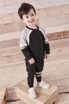 Colourblock Crew And Jogger Set (3mths-6yrs)