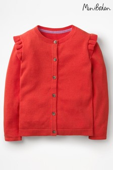 Boden Red Frilly Cardigan