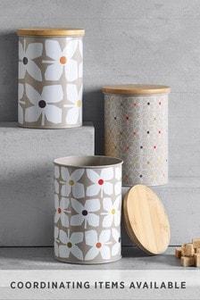Retro Floral Set of 3 Storage Tins