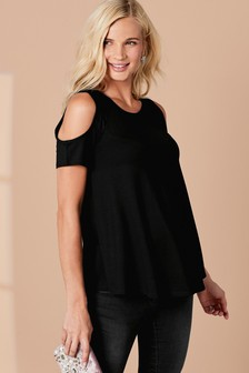 Maternity Cold Shoulder Top
