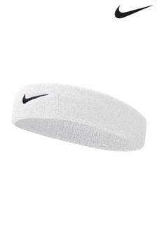 Nike White Swoosh Headband