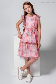 Angel & Rocket Pink Print Dress