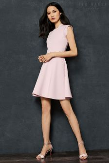 Ted Baker Omarria Pink Skater Cut Out Dress