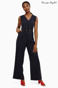 Phase Eight Navy Liliana Belted Jumpsuit