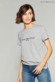 Tommy Hilfiger Grey Essential Logo T-Shirt