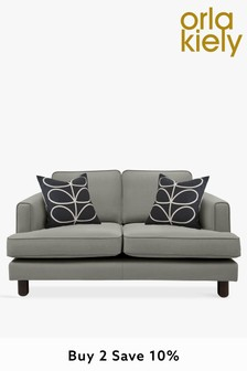 Orla Kiely Willow Small Sofa with Walnut Feet