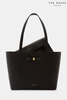 Ted Baker Jessica Black Bow Detail Shopper