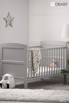 Obaby Grace Warm Grey Cot Bed