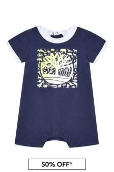 Timberland Baby Navy Cotton Shorts