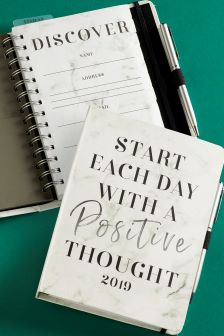 A5 Positive Thought Marble Organiser