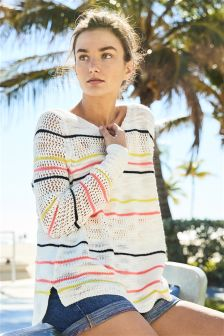 Stitchy Stripe Sweater