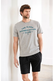 Sleep Appreciation Jersey Short Set