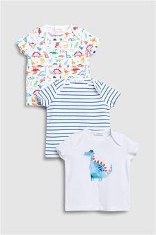 Dinosaur T-Shirts Three Pack (0mths-2yrs)