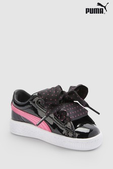 Puma® Black/Pink Basket Heart Stars