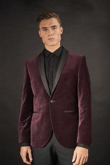 Velvet Shawl Collar Tuxedo Jacket
