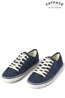 FatFace Navy Easton Lace-Up Trainer