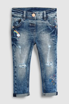 Rainbow Distressed Jeans (3mths-6yrs)