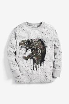 Long Sleeve Splat Graphic T-Shirt (3-14yrs)