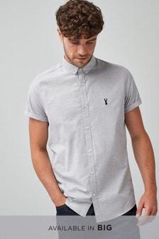 Elastyczna koszula oksford o dopasowanym kroju z krótkim rękawem