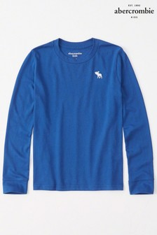 Abercrombie & Fitch Blue Long Sleeve Tee