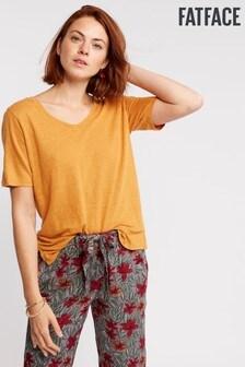 FatFace Layla Linen T-Shirt