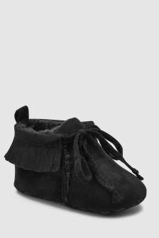 Fringe Pram Boots (0-18mths)