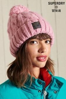 Superdry Tweed Cable Beanie Hat