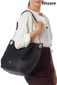 Dune London Black Plain Synthetic Shoulder Bag