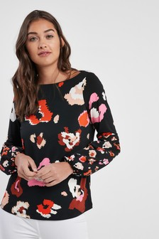 Abstract Animal Printed Top