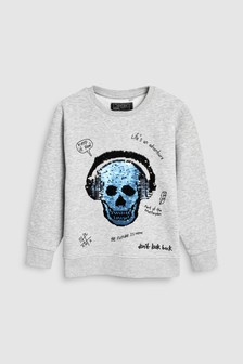 Sequin Change Crew Neck Sweat (3-12yrs)