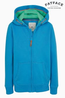 FatFace Canyon Blue Shark Graphic Zip Through Hoody