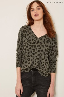 Mint Velvet Animal Print Boxy Knit