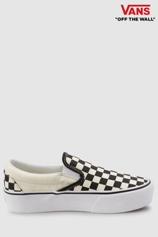 Vans Checkerboard Platform Slip-On