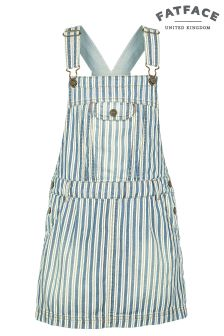 FatFace Denim Stripe Pinafore Dress