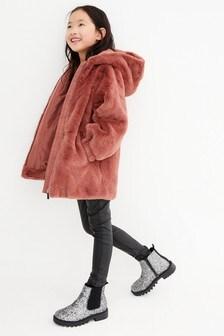 Cosy Faux Fur Jacket (3-16yrs)