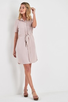 Utility Pocket Shirt Dress
