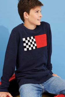 Tommy Hilfiger Boys Towelling Flag Sweater