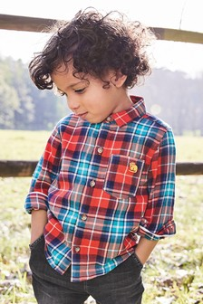 Check Long Sleeve Shirt (3mths-7yrs)