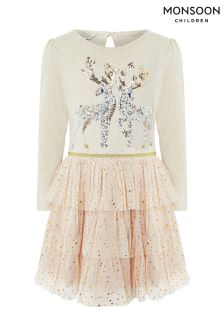 Monsoon Disco Rudy Reindeer Dress