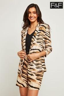 F&F Multi Tiger Print Jacket