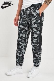 Nike Black Camo Woven Joggers